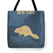 New York State Facts Minimalist Movie Poster Art  Tote Bag by Design Turnpike