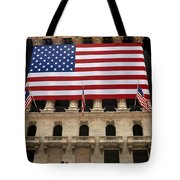 New York Stock Exchange Bride And Groom Dancing Tote Bag