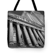 New York Stock Exchange Wall Street Nyse Bw Tote Bag