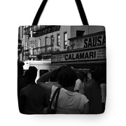 New York Street Fair - Black And White Tote Bag
