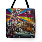 New York Street Scene Tote Bag