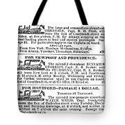 New York Sun, 1833 Tote Bag