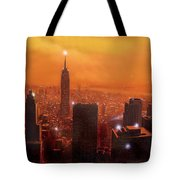 New York Sunset Tote Bag