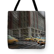 New York Taxi Abstract Tote Bag