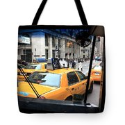 New York Taxi Cabs Tote Bag