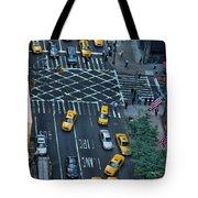 New York Taxi Rush Hour Tote Bag