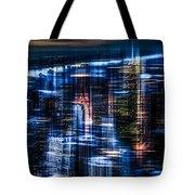 New York - The Night Awakes - Blue I Tote Bag