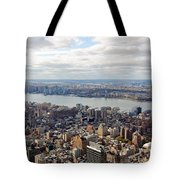 New York View Towards Jersey Tote Bag