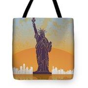 New York Vintage Poster Tote Bag