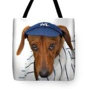 New York Yankee Hotdog Tote Bag