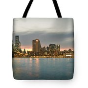 New York City - Brooklyn Bridge To Manhattan Bridge Panorama Tote Bag