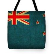 New Zealand Flag Vintage Distressed Finish Tote Bag
