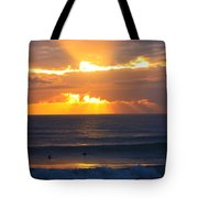 New Zealand Surfing Sunset Tote Bag