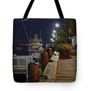 Newburyport Docks Full Moon Tote Bag