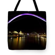 Newcastle Quayside And Sage Gateshead Tote Bag
