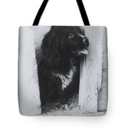 Newfoundland Puppy Tote Bag