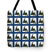 Newfoundland Tartan Map Blocks Blue Trim Tote Bag