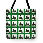 Newfoundland Tartan Map Blocks Green Trim Tote Bag