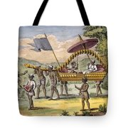 Newly Married Couple Being Taken Tote Bag by Pierre Sonnerat