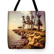 Newport Beach Jetty Vintage Filter Picture Tote Bag