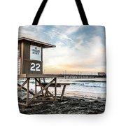Newport Beach Pier And Lifeguard Tower 22 Photo Tote Bag