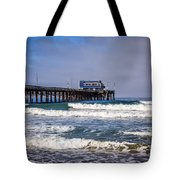 Newport Beach Pier In Orange County California Tote Bag by Paul Velgos