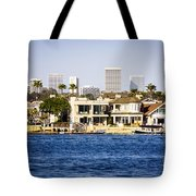 Newport Beach Skyline And Waterfront Homes Picture Tote Bag by Paul Velgos