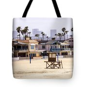 Newport Beach Skyline And Waterfront Luxury Homes Tote Bag