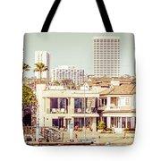 Newport Beach Skyline Vintage Panorama Tote Bag