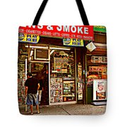 News And Smoke - Play Here Tote Bag