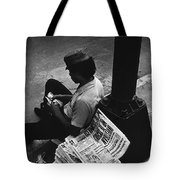 Newspaper Boy Mexico City D.f. Mexico 1970 Tote Bag