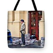 Newspaper Seller Tote Bag