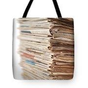 Newspaper Stack Tote Bag