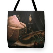Next To Bach's Musical Scores Tote Bag