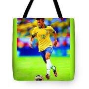 Neymar Soccer Football Art Portrait Painting Tote Bag