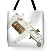 ng Pennies For Savings On White Background Tote Bag