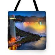 Niagara American Falls At Night Tote Bag
