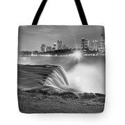 Niagara Falls Black And White Starbursts Tote Bag