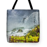 American Falls Niagara Cave Of The Winds Tote Bag