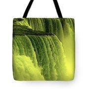 Niagara Falls Closeup Hot Wax Effect Tote Bag