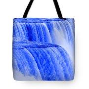 Niagara Falls Closeup In Blue Tote Bag