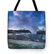 Niagara Falls Dramatic Panoramic Scenery Tote Bag