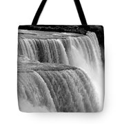 Niagara Falls In Black And White Tote Bag