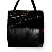 Niagara Falls Nightly Illumination Aerial View Tote Bag