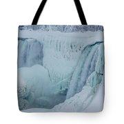 Niagara Falls Usa In Winter Tote Bag