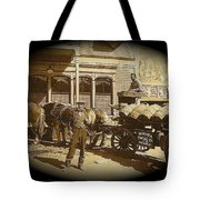Niagra Carting Wagon Extras The Great White Hope Set Globe Arizona 1969-2014 Tote Bag