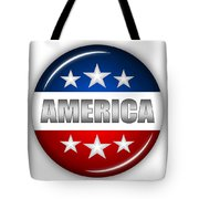 Nice America Shield Tote Bag by Pamela Johnson