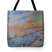 Nice French Riviera Beach Shower Tote Bag