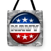 Nice Navy Shield 2 Tote Bag