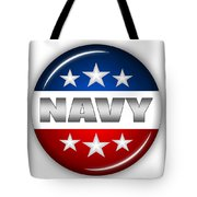 Nice Navy Shield Tote Bag
